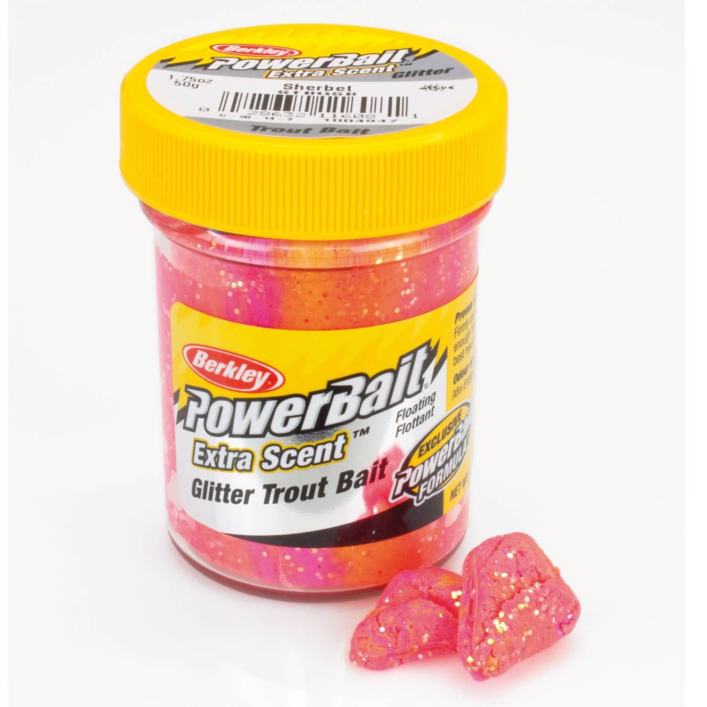 6-98-100g-Berkley-Powerbait-Glitter-Forellenteig-Glaeser-Gulp-Trout-Bait-versc