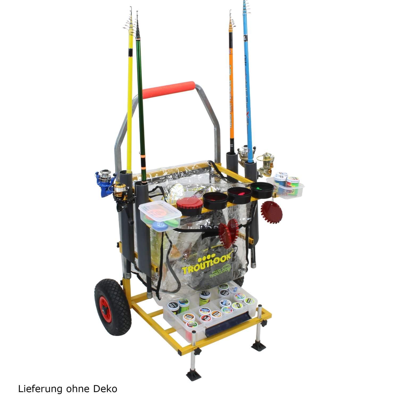 Trout-Caddy-mit-Rutenhalter-fuer-Forellen-Wettkampf-Angler-Transporter-Wagen Indexbild 2