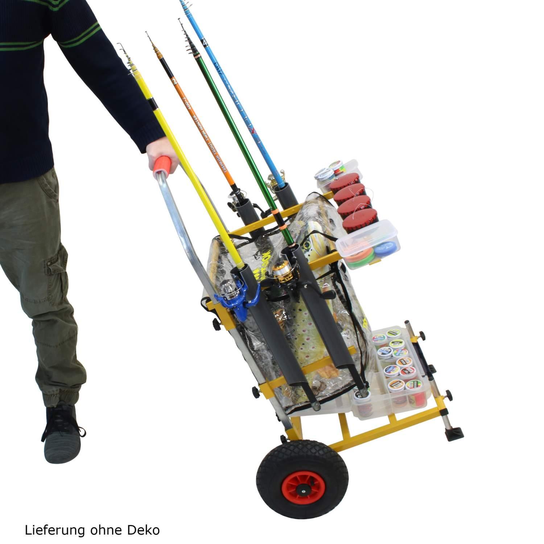 Trout-Caddy-mit-Rutenhalter-fuer-Forellen-Wettkampf-Angler-Transporter-Wagen Indexbild 3