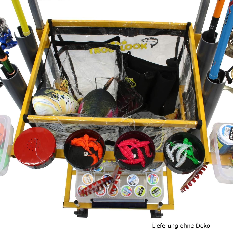 Trout-Caddy-mit-Rutenhalter-fuer-Forellen-Wettkampf-Angler-Transporter-Wagen Indexbild 7