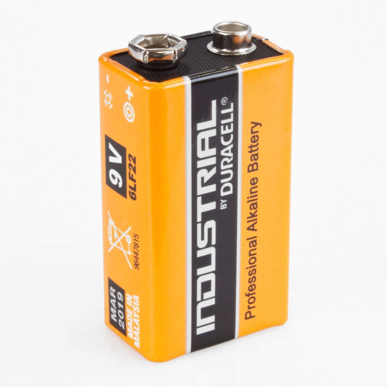 duracell industrial 9v block batterie 6lf22 alkaline 1 st ck ebay. Black Bedroom Furniture Sets. Home Design Ideas