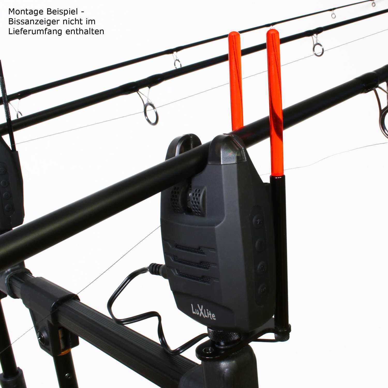 LED Snag Ears Illuminated Bissanzeiger Rod Pod Storm Guard Rutenhalter R//G//B//Y