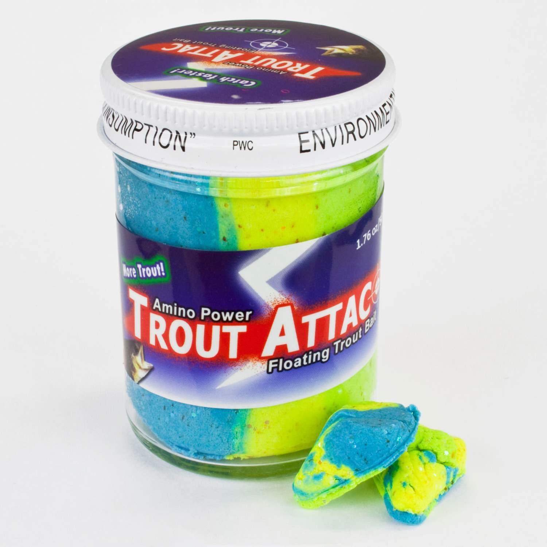 Top Secret Trout Attac Forellenteig Knoblauch orange grün fluo