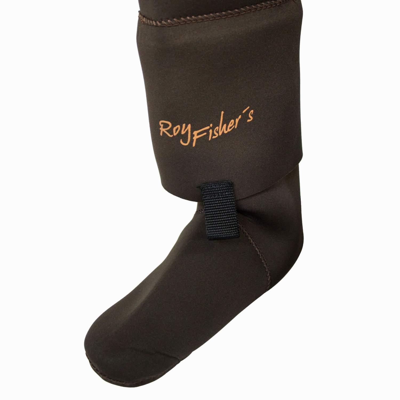 Neopren-Wathose-mit-Fuesslingen-Stocking-Foot-S-XXL-Anglerhose-Strumpf-Watstiefel