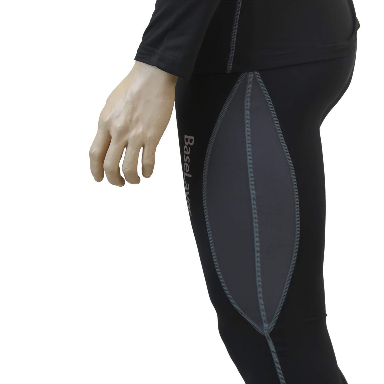 Bekleidung Unterwäsche OZOOM Base Layer Funktionsunterwäsche Set Sport Angeln Wandern 4-Wege Stretch