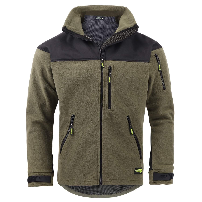 Jacken & Mäntel Legendfossil Fleece Jacket Outdoor Jacke Angel Jagd Sport Freizeit green grün