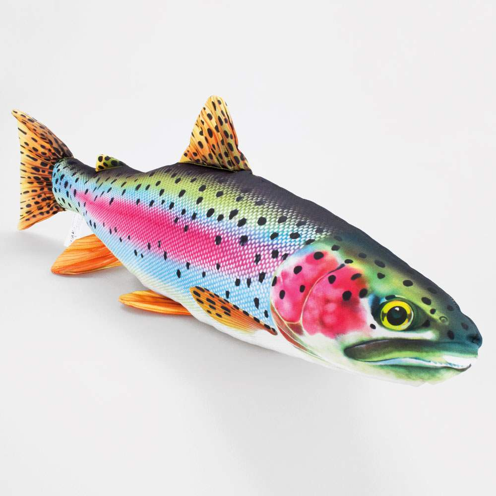 GABY DER EUROPÄISCHE WELS Stofftier 115cm Kuscheltier Kissen Fisch Plüschtier