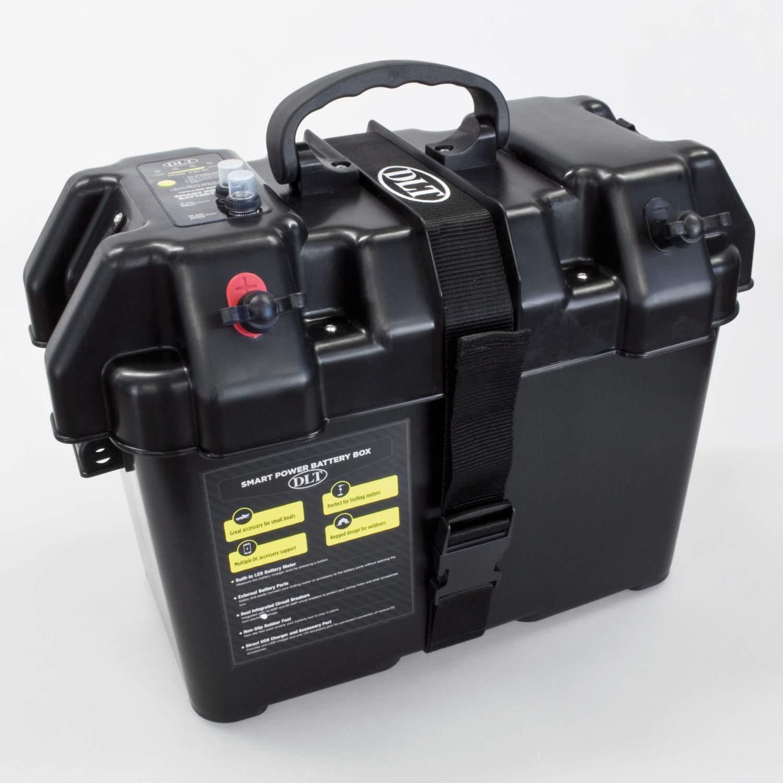 dlt batterie powerbox f r elektro bootsmotor 12v batteriekasten batteriehalter ebay. Black Bedroom Furniture Sets. Home Design Ideas