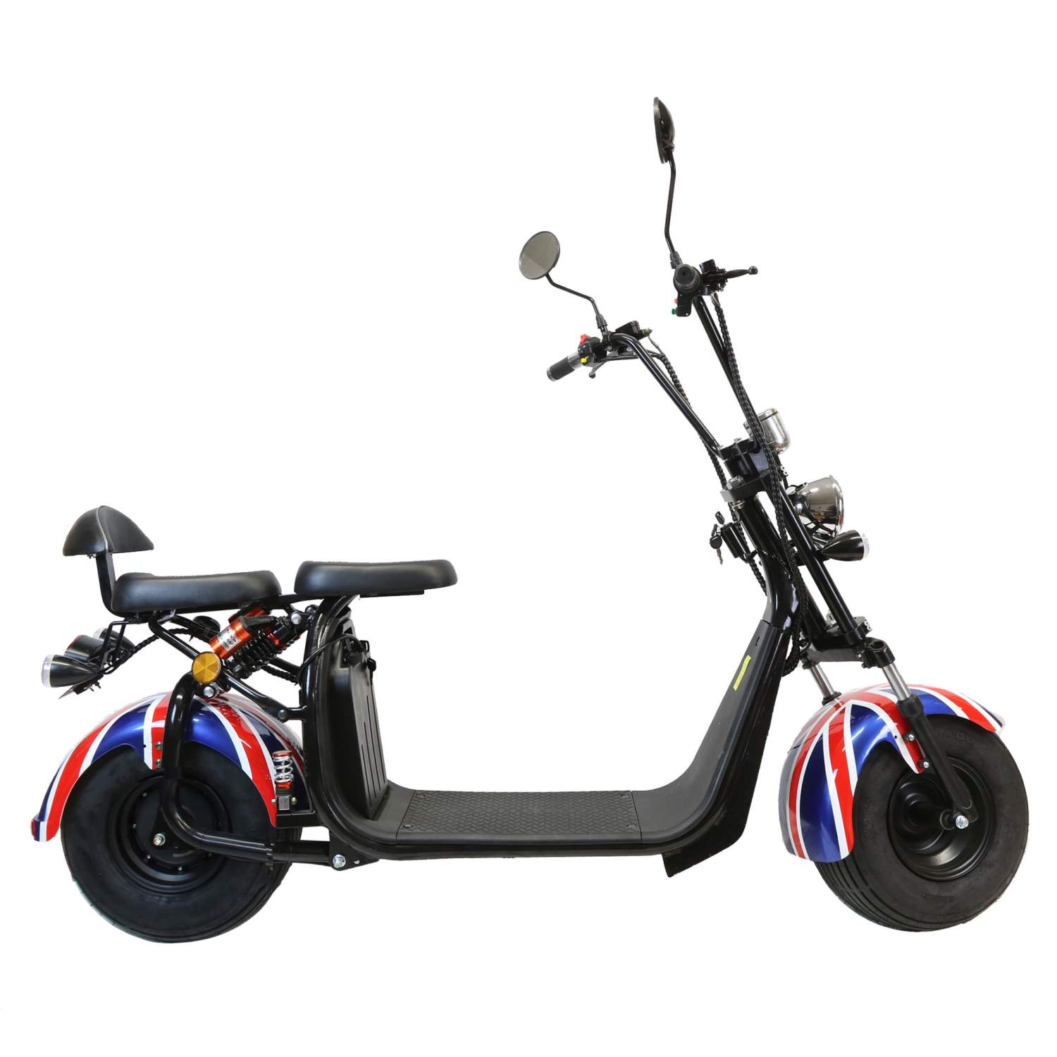 elektro scooter mit stra enzulassung e roller chopper 35km. Black Bedroom Furniture Sets. Home Design Ideas