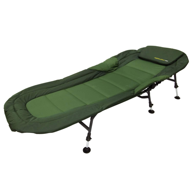 Nightwalker Pro Comfort Bedchair 6-Bein Karpfenliege Feldbett Relax Angler Liege