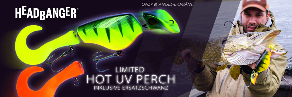HEADBANGER Lures HOT UV Perch
