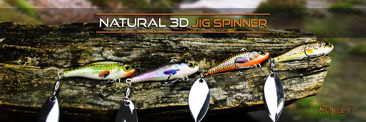 Roy Fishers Natural 3D Jig Spinner